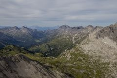 Panorama in the alps stock image