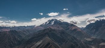 Mountain range. The Andes mountain range. Panorama view of the Andes, South America Royalty Free Stock Photos
