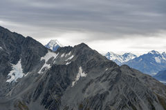Mountain range at Aoraki Mount Cook National Park, New Zealand Stock Images