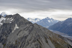 Mountain range at Aoraki Mount Cook National Park, New Zealand Royalty Free Stock Photo
