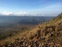 Mountain range around Mount Batur Royalty Free Stock Image