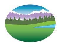Mountain range background Royalty Free Stock Photography