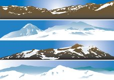 Mountain range background Royalty Free Stock Images