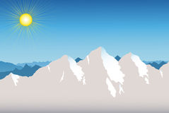Mountain Range Background Stock Images