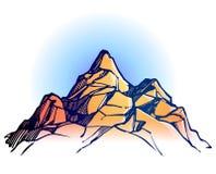 Mountain range background Royalty Free Stock Photo