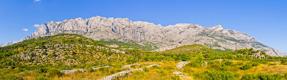 Mountain range in Biokovo national park, Croatia Royalty Free Stock Image