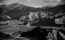 Mountain range. In black and white stock photos