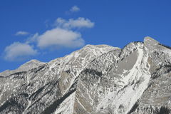 Mountain range, canada. Jasper national park, first days of winter, alberta, canada Royalty Free Stock Photo