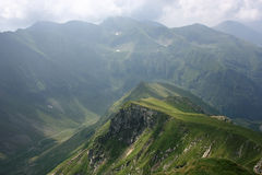 Mountain range in the Carpathians. The beautiful Carpathians in Romania Royalty Free Stock Photos