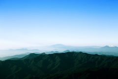 Mountain range in Chiang Mai, Thailand Royalty Free Stock Photo