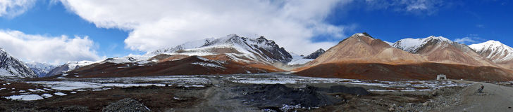 A Mountain Range on the Chino-Pakistani Border at Khunjerab Pass Stock Photography