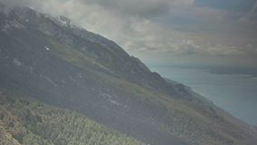 Mountain Range Clouds stock video footage