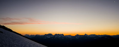 Mountain Range in the Distance at Sunrise Royalty Free Stock Images