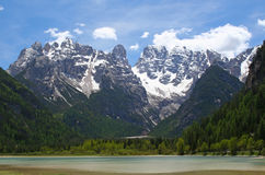 Mountain range in the dolomites Stock Photography
