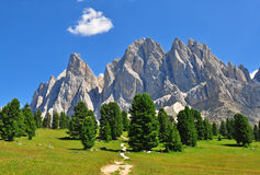 Mountain range in Dolomites Royalty Free Stock Photography