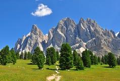 Mountain range in Dolomites Royalty Free Stock Photography