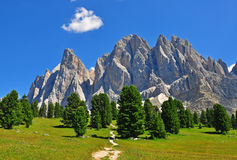 Mountain range in Dolomites Royalty Free Stock Photo