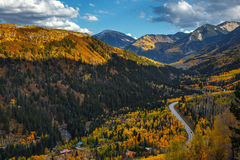 Mountain range with Fall color Stock Image