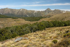 Mountain range in Fiordland National Park Stock Photos