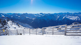 Mountain range in French Alps Royalty Free Stock Image