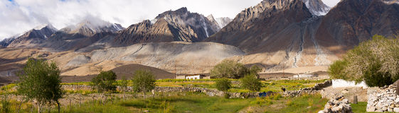 Mountain range front of Pangong. Tso Lake,India Royalty Free Stock Image