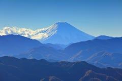 Mountain range with fuji Royalty Free Stock Photos