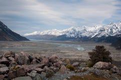 Mountain Range, Glacier Valley Stock Image