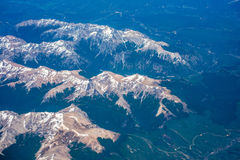 A mountain range from a height. Shevelev. Stock Image