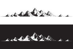 Mountain Range. Illustration of a mountain range vector illustration