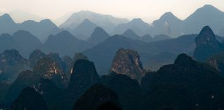 Mountain range image of Guilin Stock Photo