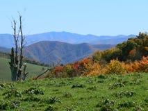 Mountain Range In Smokey Mount Stock Photo