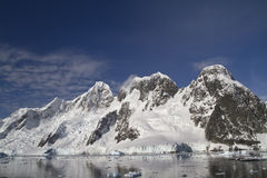 Mountain range on the island near the Antarctic Peninsula sunny Stock Images