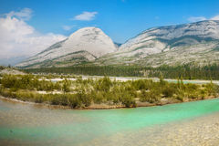 Mountain Range Landscape and Lake, Canada royalty free stock photos