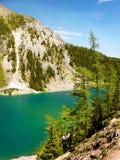 Mountain Range Landscape and Lake, Canada stock photos
