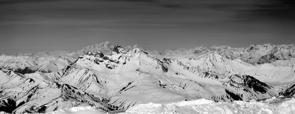 Mountain Range Landscape with Mont Blanc Royalty Free Stock Images