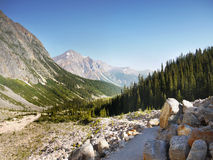 Mountain Range landscape, Rocky Mountains, Canada. Rocky Mountains, Canada. Mountain range landscape view. Canadian Rockies, National Parks stock photo