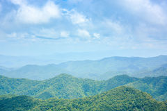 Mountain range landscape in spring Stock Images