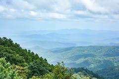 Mountain range landscape in spring Royalty Free Stock Photos