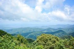 Mountain range landscape in spring Royalty Free Stock Photo