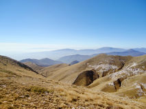 Mountain range landscape view in Greece Stock Image