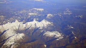 Mountain range landscape stock video