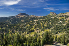 Mountain Range of the Lassen Volcano in California Stock Image