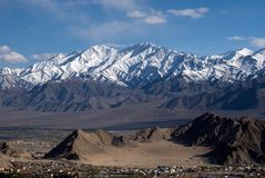 Mountain range, Leh, Ladakh, India Royalty Free Stock Images
