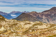 Mountain Range With Les Grandes Otanes-France Stock Images