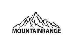 Mountain range logo graphic silhouette Stock Photos