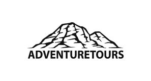 Mountain range  logo silhouette graphic Stock Images