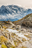 Mountain Range With Mont Blanc - France Royalty Free Stock Image