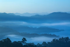 Mountain range in the morning Royalty Free Stock Image