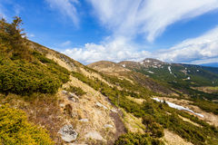 Mountain range. Mountains in the Carpathian mountains, panorama Stock Image