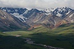 Mountain range in Mt. Denali National Park stock photos